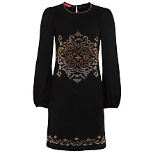 Buy Derhy Embroidered Dress, Noir Online at johnlewis.com