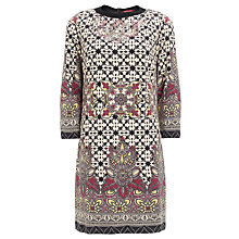 Buy Derhy Tile Print Knit Dress, Beige Online at johnlewis.com