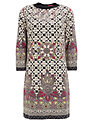 Derhy Tile Print Knit Dress, Beige