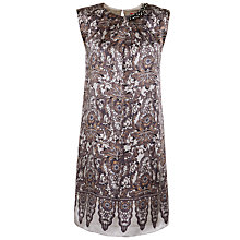 Buy Derhy Print Pleat Embellished Dress, Gris Online at johnlewis.com