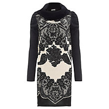 Buy Derhy Lace Print Cowl Neck Dress, Ecru Online at johnlewis.com