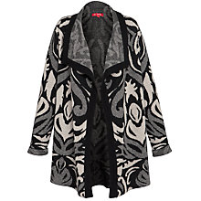 Buy Derhy Waterfall Intarsia Cardigan, Noir/ Beige Online at johnlewis.com