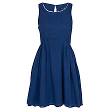 Buy French Connection Sweetie Plain Dress, Royal Blue Online at johnlewis.com