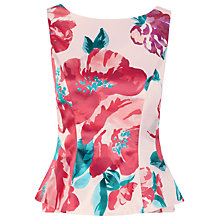 Buy Kaliko Annabelle Peplum Top, Pink Online at johnlewis.com
