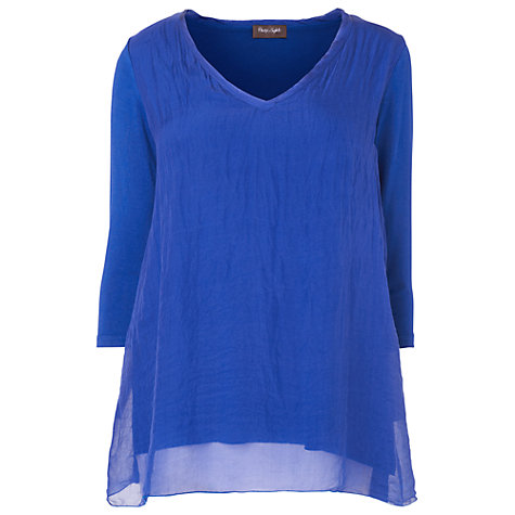 Buy Phase Eight Made In Italy Maude Silk V-Neck Tunic Top, Lapis Online at johnlewis.com
