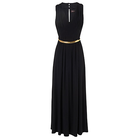 Buy Phase Eight Wynn Gold Belted Dress, Black Online at johnlewis.com