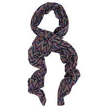 Buy French Connection Ziggy Zag Scarf, Multi / Grey Online at johnlewis.com