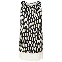 Buy Phase Eight Made in Italy Holly Pleated Tunic Dress, Black/Cream Online at johnlewis.com
