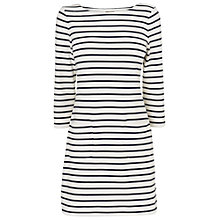 Buy Phase Eight Striped Ennis Tunic Dress, Ivory/Navy Online at johnlewis.com