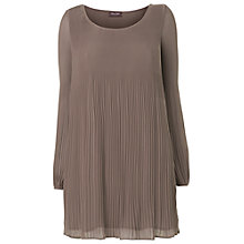 Buy Phase Eight Ella Pleated Tunic Top, Praline Online at johnlewis.com