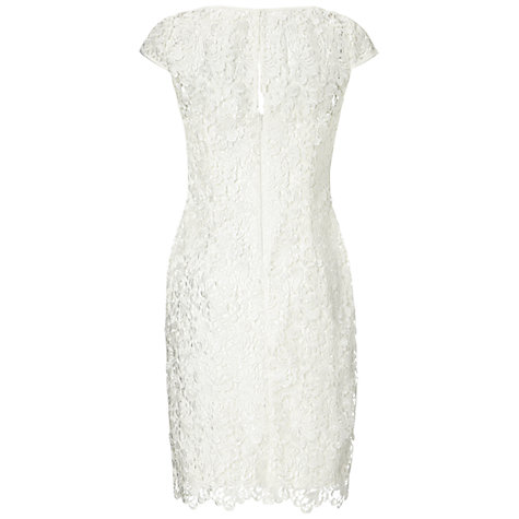 Buy Adrianna Papell Lace Capped Sleeve Dress, White Online at johnlewis.com