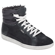 Buy Geox Hope High-Top Trainers, Black Online at johnlewis.com