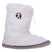 Buy Bedroom Athletics Marilyn Faux Fur Boot Slippers, Cream Online at johnlewis.com
