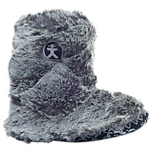 Buy Bedroom Athletics Furry Slipper Boots, Grey Online at johnlewis.com