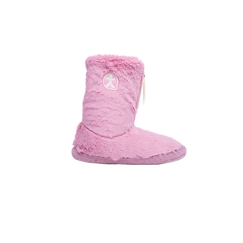 Buy Bedroom Athletics Marilyn Faux Fur Boot Slippers, Pink Online at johnlewis.com