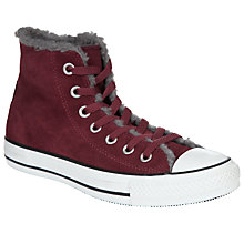 Buy Converse Chuck Taylor All Star Warm High-Top Trainers, Burgundy Online at johnlewis.com