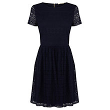 Buy Oasis Daisy Lace Skater Dress, Navy Online at johnlewis.com