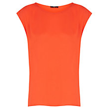 Buy Oasis Pleat Back Top, Mid Orange Online at johnlewis.com