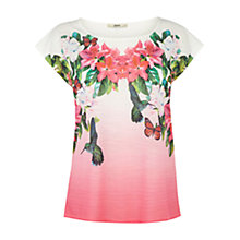 Buy Oasis Tropical Bird Top, Multi Online at johnlewis.com