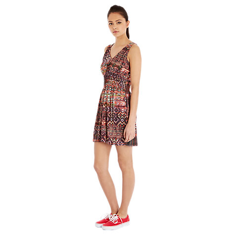 Buy Warehouse Masai Sheer Panel Dress, Multi Online at johnlewis.com