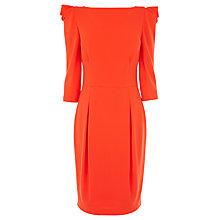 Buy Coast Nickell Crepe Dress, Orange Online at johnlewis.com