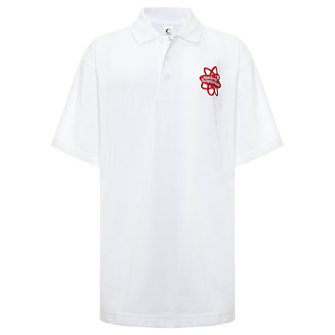 Buy East London Science School Unisex Polo Shirt, White Online at johnlewis.com