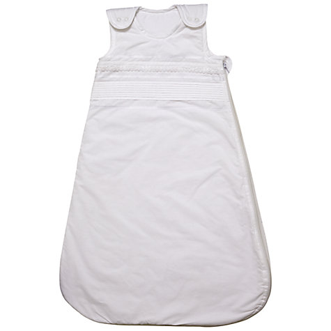 Buy John Lewis Baby Heritage Sleeping Bag, White Online at johnlewis.com