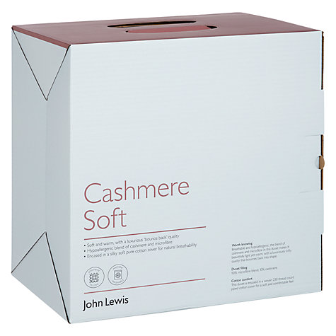 Buy John Lewis Cashmere Blend Duvet, 13.5 Tog (9 + 4.5 Tog) All Seasons Online at johnlewis.com