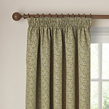 Buy John Lewis Tate Lined Pencil Pleat Curtains, Green Online at johnlewis.com