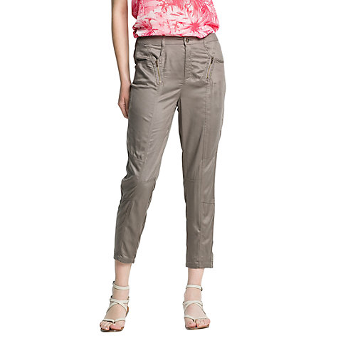 Buy Mango Zip Casual Trousers, Light Pastel Brown Online at johnlewis.com