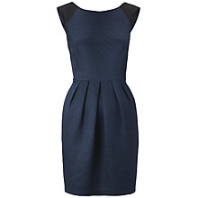 Buy Whistles Noel Jacquard Flared Dress, Navy Online at johnlewis.com