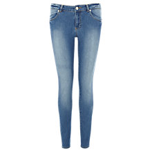 Buy Warehouse Supersoft Skinny Jeans, Mid Wash Online at johnlewis.com