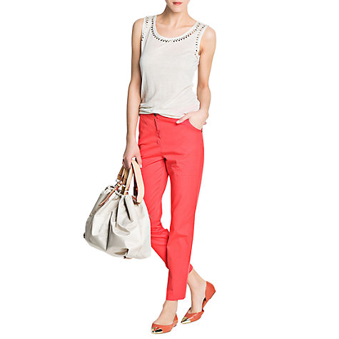 Buy Mango Boyfriend Trousers, Medium Red Online at johnlewis.com