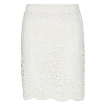 Buy Mango Guipere Skirt, Natural White Online at johnlewis.com