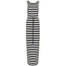 Buy Whistles Lillian V-Back Maxi Dress, Black/White Online at johnlewis.com
