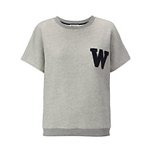 Buy Whistles Varsity Letter Sweatshirt, Grey Online at johnlewis.com
