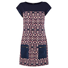 Buy Warehouse Aztec Pocket Dress, Multi Online at johnlewis.com
