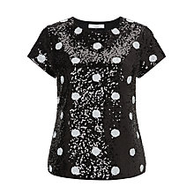 Buy COLLECTION by John Lewis Amaya Sequin Top, Cream/Black Online at johnlewis.com