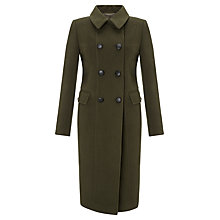 Buy COLLECTION by John Lewis Kaya Fit & Flare Coat, Khaki Online at johnlewis.com