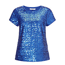 Buy COLLECTION by John Lewis Amaya Sequin Top, Midnight Online at johnlewis.com