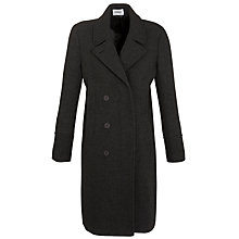 Buy Farhi by Nicole Farhi Double Breasted Long Coat, Charcoal Online at johnlewis.com
