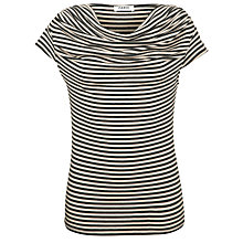 Buy Farhi by Nicole Farhi Jersey Striped T-Shirt, Ecru/Charcoal Online at johnlewis.com