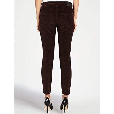 Buy Farhi by Nicole Farhi Side Zip Corduroy Trousers, Red Online at johnlewis.com