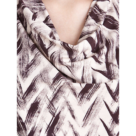 Buy Farhi by Nicole Farhi Chevron Jersey Dress, Oxblood/Nude Online at johnlewis.com