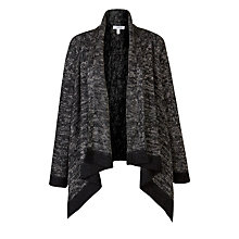 Buy Farhi by Nicole Farhi Mohair Tweed Cardigan, Charcoal Online at johnlewis.com