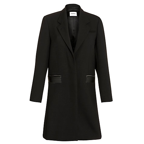 Buy Farhi by Nicole Farhi Long City Coat, Black Online at johnlewis.com