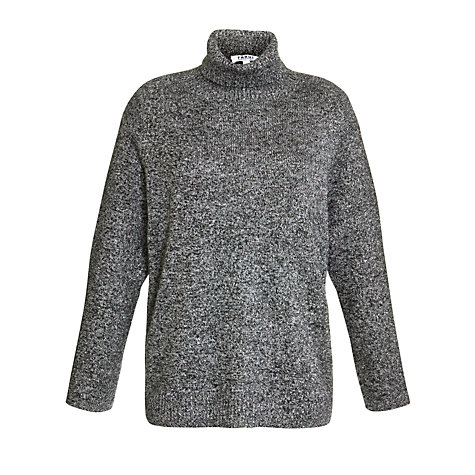Buy Farhi by Nicole Farhi Roll Neck Sparkle Jumper, Charcoal Online at johnlewis.com