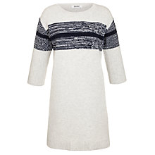 Buy Farhi by Nicole Farhi Boiled Wool Dress, Ecru/Navy Online at johnlewis.com