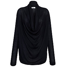 Buy Farhi by Nicole Farhi Cowl Neck Long Sleeve Top, Black Online at johnlewis.com