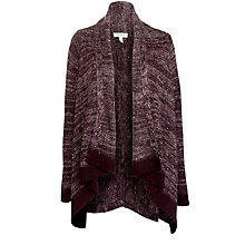 Buy Farhi by Nicole Farhi Mohair Tweed Cardigan, Oxblood Online at johnlewis.com